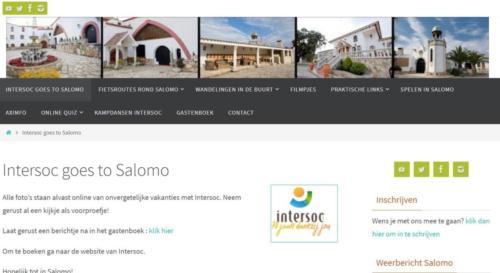 Salomo - Intersoc reisbestemming