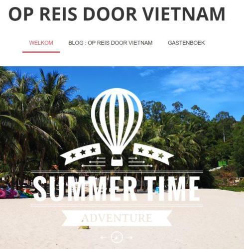 Eigen reiswebsite Vietnam